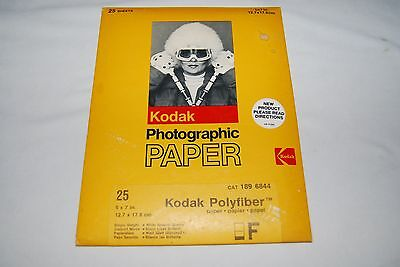 Vintage Outdated KODAK PHOTOGRAPHIC PAPER Polyfiber 5x7 25 Sheets