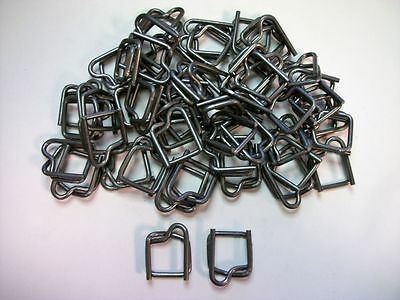 "Lot of 50 - Metal Buckles for 1⁄2"" Polypropylene Strapping - Uline S-108"