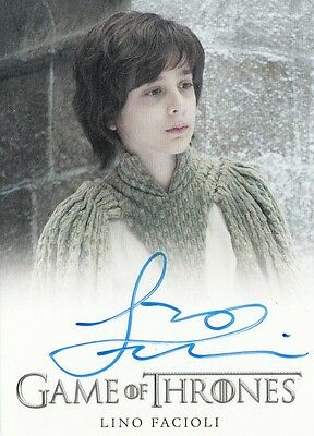 Game Of Thrones Season 6 - Lino Facioli (Robin Arryn) Autograph Fb Limited