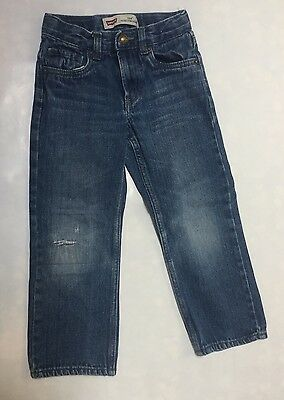 Levi's Boy Size 6 Regular 514 Slim Straight Sandblasted Jeans