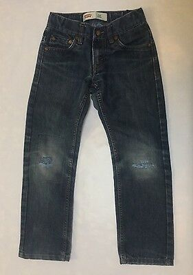 Levi's Boys Size 8 Regular 511 Slim Medium Wash Jeans