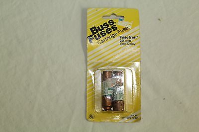 Fusetron 2-Pack Buss Fuses BP/FRN-R-30 30 Amp 250VAC NOS