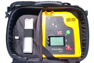 """#2 Welch Allyn AED 10 Patient Monitor 970300 with Case AND NEW PADS """"No Battery"""""""