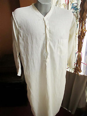Large Vintage 1900s M.W. All Cotton long night shirt mens