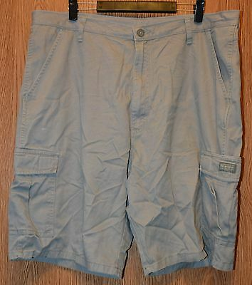Mens Gray Wrangler Flat Front Cargo Shorts Size 40 excellent