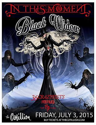 "IN THIS MOMENT ""BLACK WIDOW TOUR"" 2015 WICHITA CONCERT POSTER - Metalcore Music"