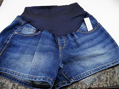 NWT Maternity Denim Jean Shorts Size 12 Full Panel OLD NAVY