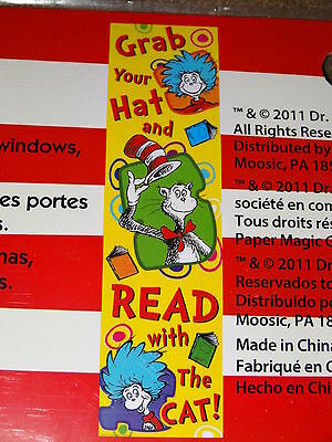 Dr. Seuss Grab Your Hat And Read With The Cat 4-Foot Banner-New In Package