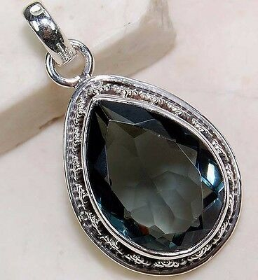 6CT Iolite 925 Solid Sterling Silver Detailed Design Pendant Jewelry, S4-2