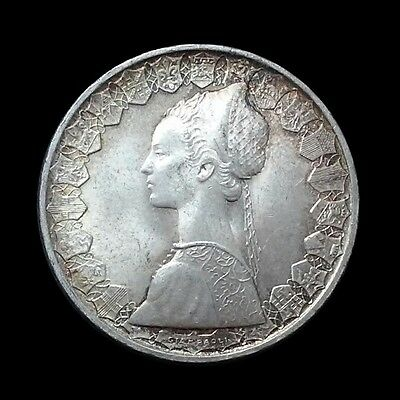 1958 R Italy 500 Lira Silver Coin, Lovely Uncirculated Italian Coin Toned