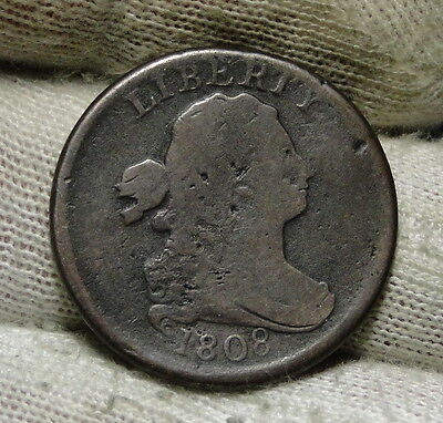 1808 Draped Bust Half Cent - Rare Coin, Free Shipping  (6008)