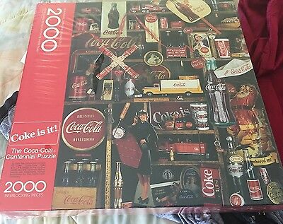 The Coca-cola Collectible Centennial 2000 Piece Puzzle 1986 by Springbok new