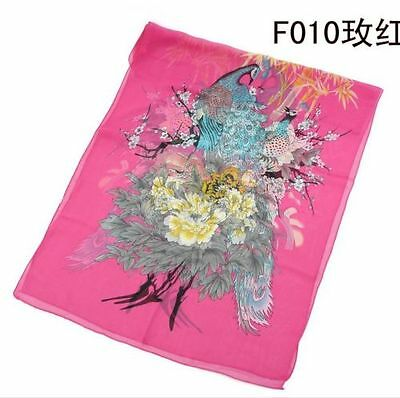 Beautiful Long Chiffon Lady Women's Scarf Wraps Shawl Stole Soft Scarves Rose