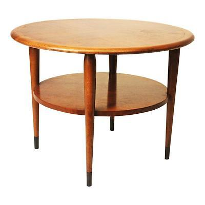 Danish Modern LANE ACCLAIM ROUND ACCENT TABLE mid century vintage end side drum