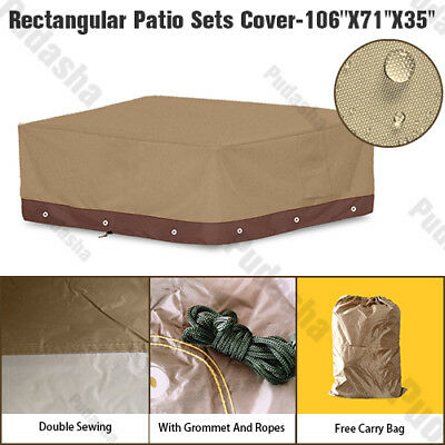 Premium Waterproof Furniture Cover For Rectangular Patio Set Table Chairs PS08P