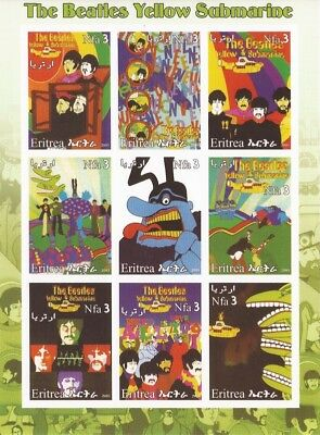 2003 The Beatles Yellow Submarine - 9 Stamp Sheet - 5A-029