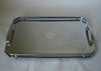 Vintage Retro 50s RANLEIGH CHROME SERVING/DRINKS TRAY Stainless Steel ART DECO