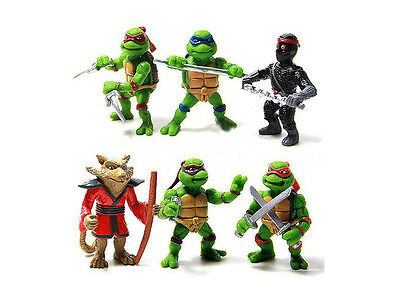 Turtles Figures Toys Set Teenage Mutant Ninja 6 Pcs