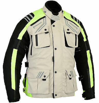 New Velocity Winter Textile Jacket Ce Armored Waterproof Beige