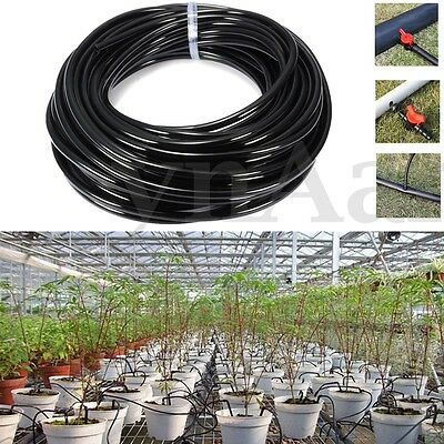 20M Watering Tubing PVC Hose Pipe 4/7mm Micro Drip Irrigation System For Gardens