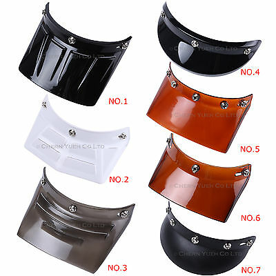 Visor Duckbill Peak Face Shield Lens for 3 & 5-Snap Motorcycle Motocross Helmets