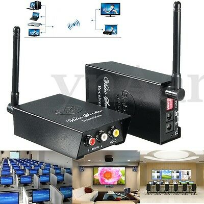 2.4GHz Wireless Audio Video AV TV Transmitter Ricevitore Sender 4 Caneli TV VCR