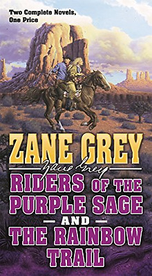 Riders of the Purple Sage and the Rainbow Trail - Paperback NEW Zane Grey (Auth