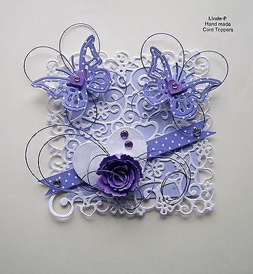 3D  BUTTERFLY CIRCLE  with WIRE  CARD TOPPER  GEN 35-1 Pink