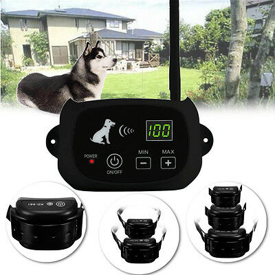 LCD Wireless Pet Fence Rechargeable Containment 1 / 2 /3 Dog Systems Waterproof