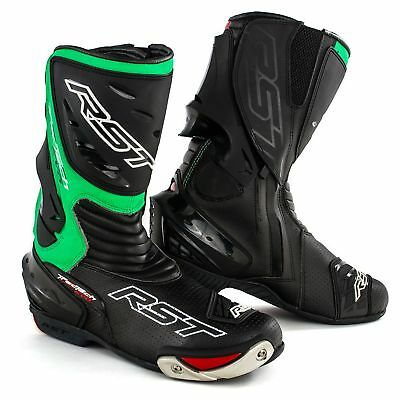 RST Tractech Evo CE Motorcycle / Bike / MC / Road / Race Boots - Black / Green