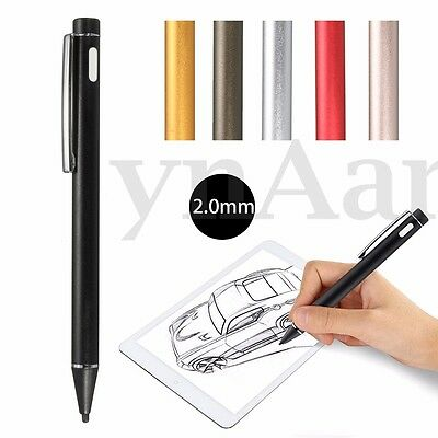 Rechargeable 2.0mm Active Stylus Capacitive Drawing Pen For iPad Phone Touch
