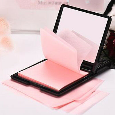Luxury Black Box With Mirror Clean Clear Oil Control Face Film Blotting Paper