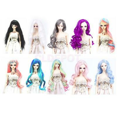 Doll Full Head Curly/Wavy Hair Wig Hairpiece for 1/3 BJD SD DZ LUTS DIY Change