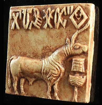 MOUNTED INDUS VALLEY SEAL TABLET Mohenjo-Daro 2500 BC- museum replica