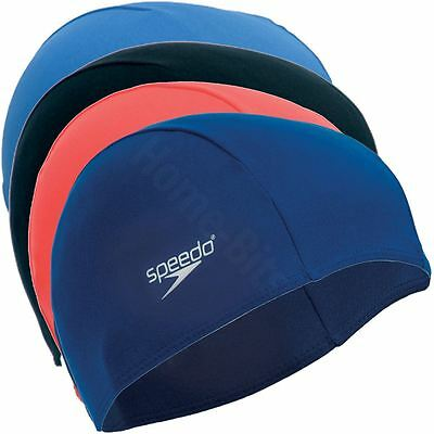 Speedo Polyester Junior Stretch Cap Fabric Material Swimming Pool Hat Age 6-14