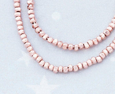 Karen hill tribe Rose Gold  Vermeil Style  130 Faceted Beads 1.6mm.