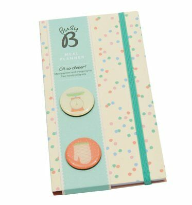 NEW! Busy B Meal Planner Spots Organiser Shopping List Weekly Chart + Magnets