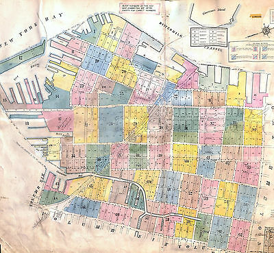 Brooklyn Map, Red Hook, Cobble Hill, Boerum Hill, Sanborn Index Map, 1915