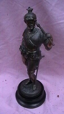 Conquistador Warriors Antique Spelter Statutes - A Pair Of
