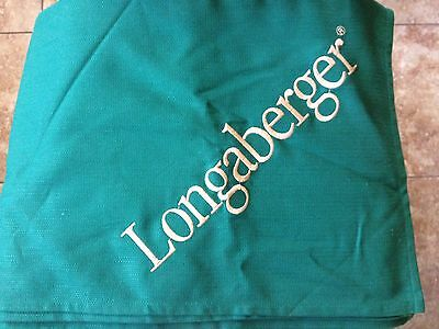 "Longaberger 58"" x 58"" Ivy Tablecloth with Embroidery - MINT"