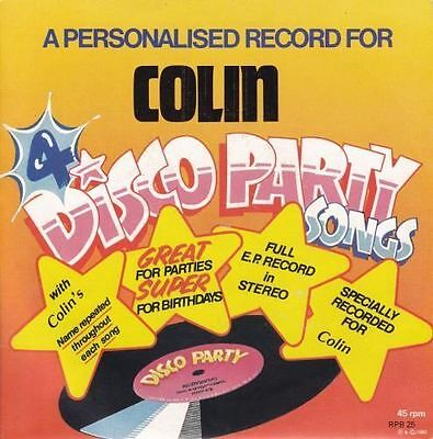 A Personalised Record For Colin 7 : Unknown Artist