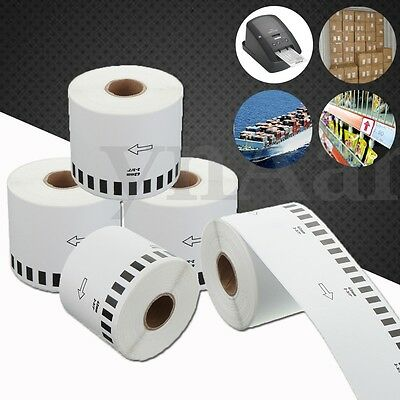 5 Rolls 62mm Continuous Thermal DK-22205 Labels For Brother QL500 QL 550 560 570