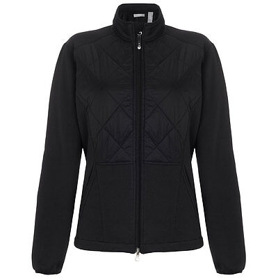 73% OFF RRP Callaway Womens Full Zip Quilted Opti-Therm Tech Stretch Golf Jacket