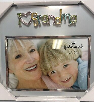 "New Hallmark ""I Love Grandma"" Picture Frame Fits 6"" x 4"" Photo"