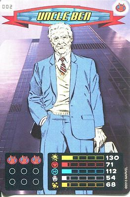 Spiderman Heroes And Villains Card #002 Uncle Ben