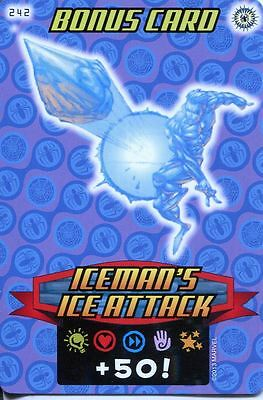 Spiderman Heroes And Villains Card #242 Icemans Ice Attack