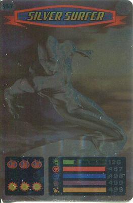Spiderman Heroes And Villains Card #117 Silver Surfer Foil