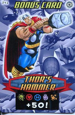 Spiderman Heroes And Villains Card #241 Thors Hammer