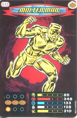 Spiderman Heroes And Villains Card #050 Molten Man