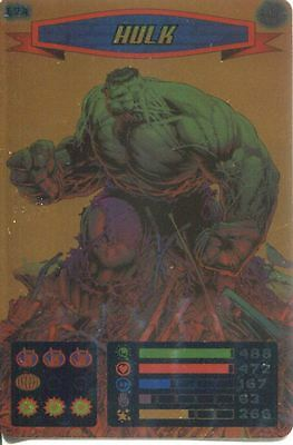 Spiderman Heroes And Villains Card #174 Hulk Foil